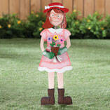 Garden Girl Lawn Stake by Maple Lane Creations™