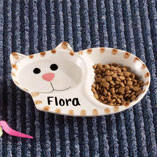Personalized Ceramic Cat Dish
