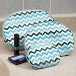 Chevron Cosmetic Cases, Set of 3