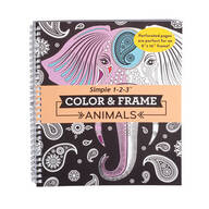 Color & Frame Animals Coloring Book
