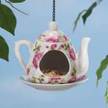Ceramic Teapot Birdfeeder