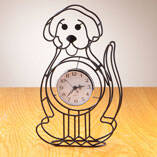 Dog Tabletop Clock