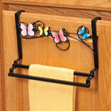 Butterfly Over-the-Cabinet Towel Holder