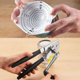 Easy Crank Can Opener & Can Strainer Set