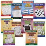Large Print Puzzle Books - Set of 10