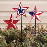Barn Star Planter Stakes by Maple Lane Creations™, Set of 3