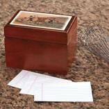Personalized Tuscan Sunset Recipe Box