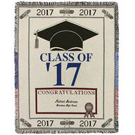 Personalized 2017 Graduation Afghan