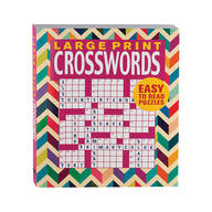 Large Print Crosswords Book