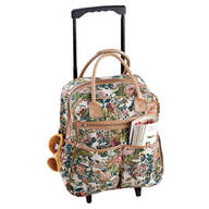 Floral Tapestry Rolling Bag