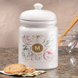 Personalized Farmers Market Salsa Cookie jar