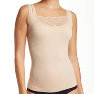 Shaping Tank with Lace Modesty Panel