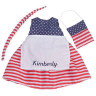 Personalized Big Sister Patriotic Dress