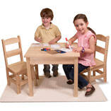 Melissa & Doug® Wooden Table & Chairs 3-Pc. Set