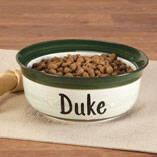 Personalized Ceramic Pet Dish