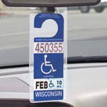 Handicap Placard Hanger, Set of 2