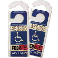 Handicap Placard Hanger, Set of 2