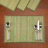 Striped Bamboo Placemats, Set of 4