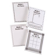 Personalized Activity Note Pads, Set of 4