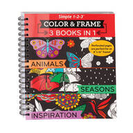 Adult 3-in-1 Animals, Seasons, Inspiration Coloring Book
