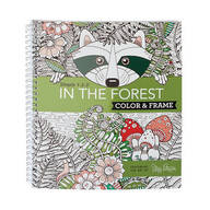 Adult Color & Frame Forest Coloring Book