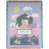 Personalized Child's Noah's Ark Afghan