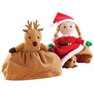 Santa's Reindeer Flip Doll
