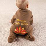 Personalized Baby Turkey Sleeper