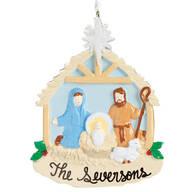 Personalized Nativity Scene Ornament