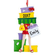 Personalized Shopaholic Ornament