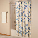 Shell Print Shower Curtain