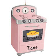 Personalized Pink Oven Ornament