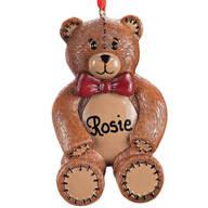 Personalized Teddy Bear Ornament