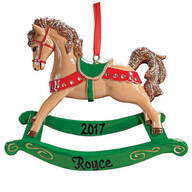 Personalized Rocking Horse Ornament