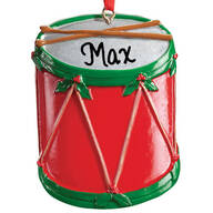 Personalized Christmas Drum Ornament