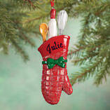 Personalized Christmas Oven Mitt Ornament