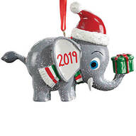Personalized Christmas Elephant Ornament