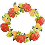 Pumpkin & Gourds Metal Wreath by Maple Lane Creations™