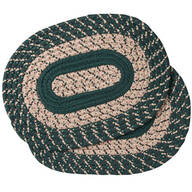 Hunter Green Braided Placemats, Set of 2