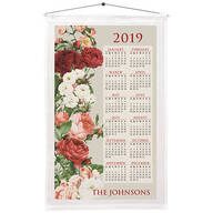 Personalized Vintage Floral Calendar Towel