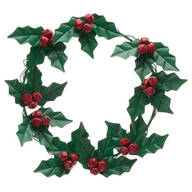 Holly and Berries Metal Wreath by Maple Lane Creations™