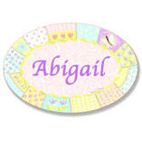 Personalized Patchwork Name Plaque