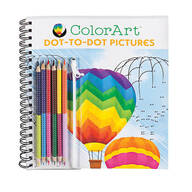 ColorArt® Dot-to-Dot Pictures Coloring Book