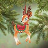 Personalized Vintage Reindeer Ornament