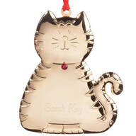 Personalized Birthstone Cat Ornament