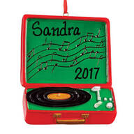 Personalized Record Player Ornament
