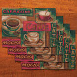 Coffee Placemats, Set of 4