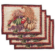 Cornucopia Placemats, Set of 4