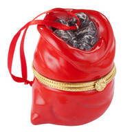 Bag of Coal Trinket Box Ornament