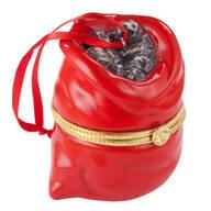 Bag of Coal Trinket Box Ornament